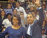 JB - Barack and Michelle Obama at a Pittsburgh rally in April