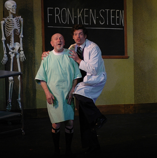 Barry Fuller and Marques Brown in the multiple Ostrander-winning musical Young Frankenstein
