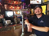Bartender Dan Taylor and Jae Wells at the Pumping Station - BIANCA PHILLIPS