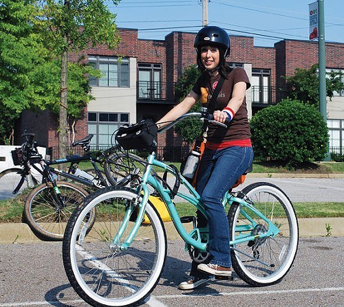 Bianca Phillips at last years Bike-to-Work Day