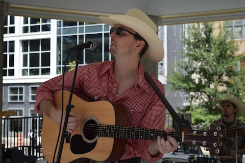 Big Barton performing at the food truck rodeo