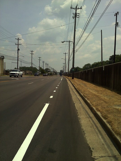 Flyer reader Scott Banbury snapped this shot of the new bike lanes on Chelsea.