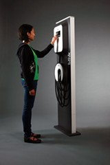 Blink-brand electric vehicle chargers will be installed across Shelby County.