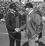 Bo Schembechler and OSU's Woody Hayes, back in the day.