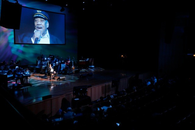 Bobby Blue Bland at the Memphis Music Hall of Fame induction ceremony.