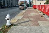 BIANCA PHILLIPS - Broken sidewalks along South Main