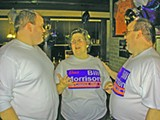 JB (W/RON WILLIAMS) - Brother Brian (left) and mother Faye helped Bill Morrison celebrate his District 1 city council win Thursday night.