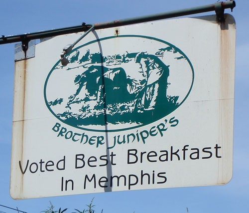 Brother Junipers: Where Memphis Beat cops go for breakfast.