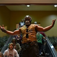 MidSouthCon 32 Bryan Taylor as Bane from Christopher Nolan's Batman trilogy. Lisa Elaine Babb