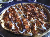 Buffalo chicken pizza at Memphis Pizza Café