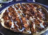 Buffalo chicken pizza at Memphis Pizza Café