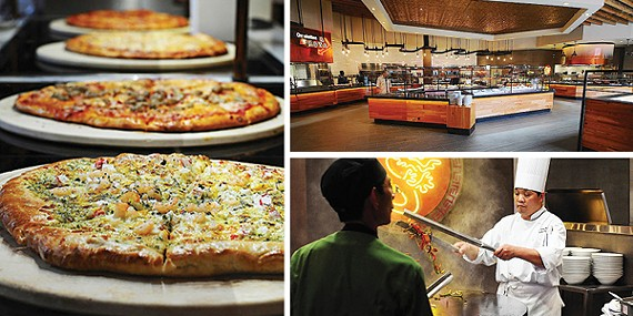 Buffet Americana's wood-fire pizzas, new décor, and a chef at the Mongolian Grill