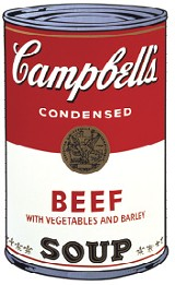 Campbells Soup I: Beef, 1968, Founding Collection, The Andy Warhol Museum, Pittsburgh