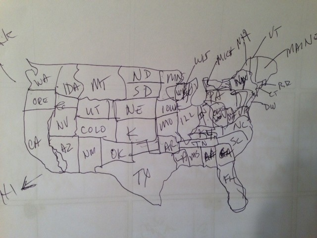Can You Draw A Map Of The United States The Brucev Blog - Al-franken-draws-us-map