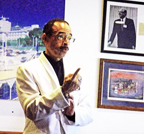 Candidate Whalum Makes a :Point