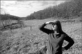 Carol Buckley looks over the 2,700-acre Elephant Sanctuary - JUSTIN FOX BURKS