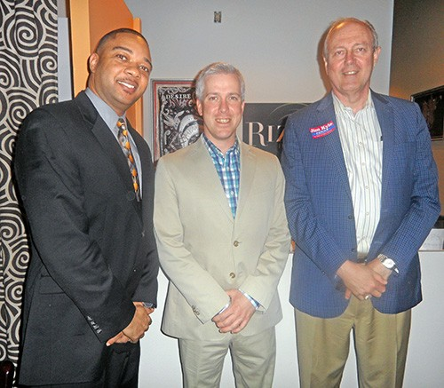Carson, Anderson, and Kyle at Wednesday night event