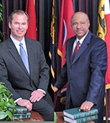 Chairman McCormick (l); Councilman Brown