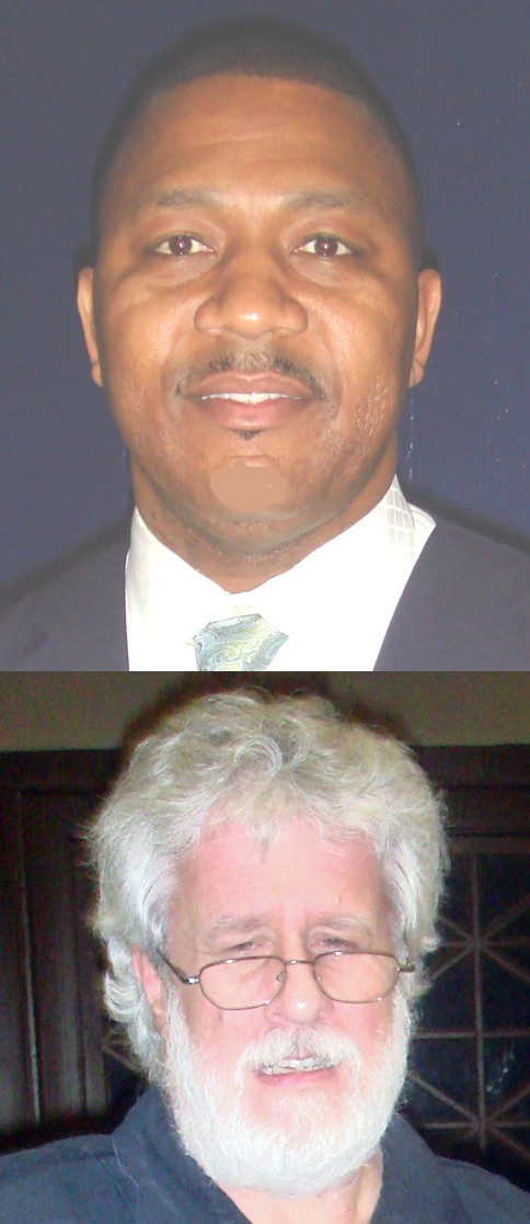 "Chairman wannabe Keith Norman (top) and ""helper"" Richard Fields - JB"