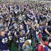 Cheering on the Purple