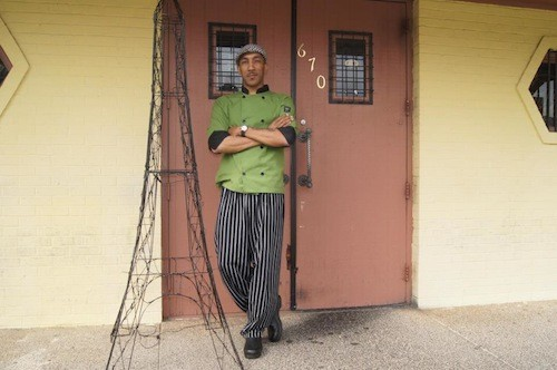 Chef Demarcus at the site of his new restaurant