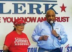 Cheyenne Johnson and Ed Stanton Jr. at Saturday's rally