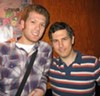 Chris Parnell (right) and blogger/SNL story source.