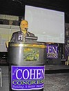Cohen takes his victory lap.