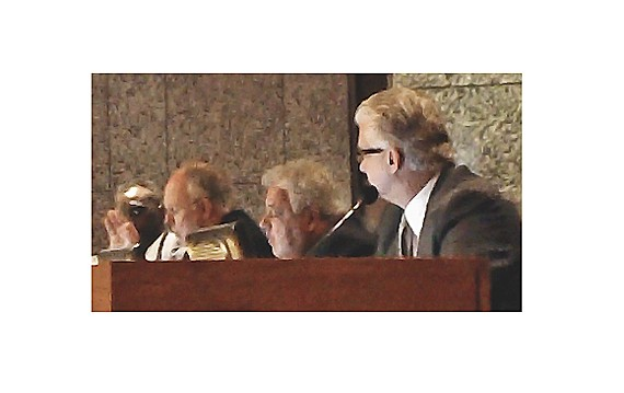 Commissioners Ritz, Roland, and Thomas during debate on subpoena issue