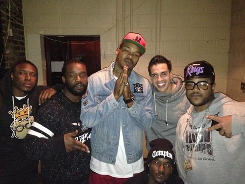 Compton Menace and his crew after a successful performance.