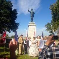 Confederate heritage groups gathered in Memphis Park Saturday to re-dedicate the statue of Jefferson Davis.