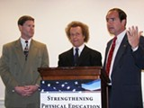 Congressman Ron Kind, Richard Simmons, and Congressman Zach Wamp.