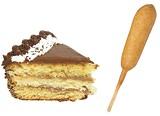 CAKE BY IVAN VASILEV | DREAMSTIME.COM; CORNDOG BY RICK SARGEANT | DREAMSTIME.COM