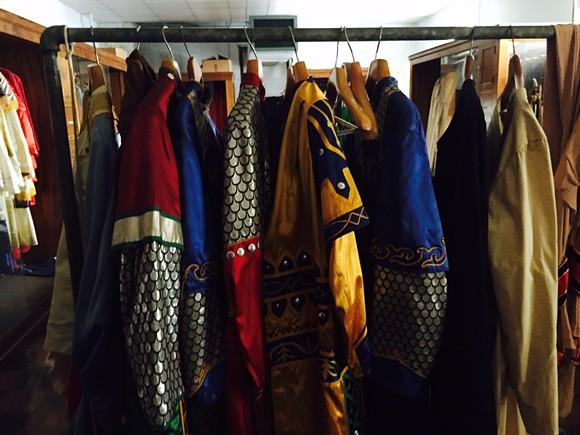 Costumes abound.