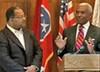 Councilman Myron Lowery and Mayor AC Wharton