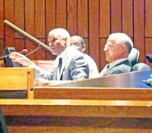 County mayor A C Wharton argued reluctantly -- and unsuccessfully -- on Monday for passage of a proposal to out-source food services for county prisoners. - JB