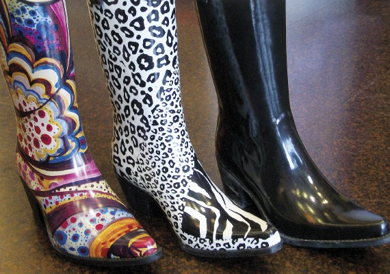 Cowgirl rainboots from Glitter & Glam Boutique