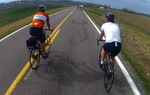 Cyclists spent two days mapping a safe route from Kentucky to Memphis.