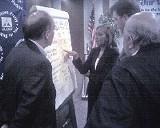 RICHARD THOMPSON - Dave Danchak, V. Lynn Evans, Tom Swanson, and Dave Rusin at last week's MLGW board meeting.