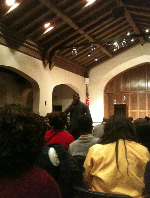 David Banner speaking at Rhodes