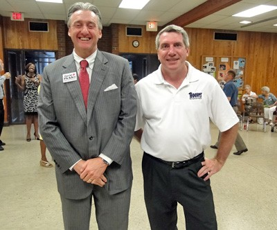 David Pickler and Ken Hoover, county School Board rivals - JB