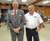 David Pickler and Ken Hoover, county School Board rivals - JB