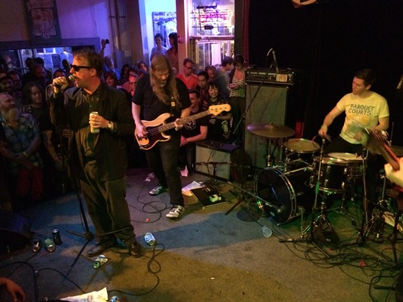 Detroit, Michigan's Protomartyr on the Hi Tone stage.