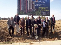 Developers and city officials, including Mayor Willie Herenton, break ground for the Horizon.