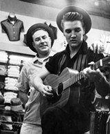 Dewey Phillips and Elvis - COURTESY OF LANSKY'S ARCHIVES