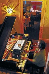 Di Anne Price serenading diners at Cielo - JUSTIN FOX BURKS
