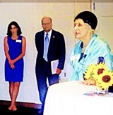 Director Ashley Coffield, Congressman Steve Cohen, and honoree Beverly Marrero at Planned Parenthood event - JB