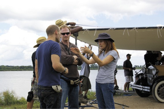 director Jodie Markell and crew