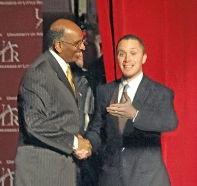 DLC chairmanFord (right)with RNC chairman Steele after the debate. - JB