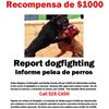 Dog-fighting Tip Reward Announced
